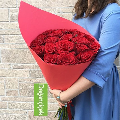 20 Kırmızı A KALİTEDE Gül Buket Çiçek